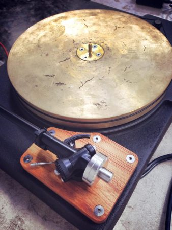 Bronze platter turntable from Fern & Roby.
